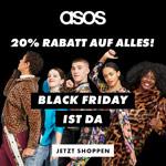Black Friday ist da. 20% auf alles im Store von asos