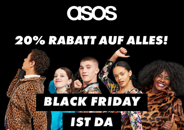 black friday ist da 20 auf alles im store von asos black. Black Bedroom Furniture Sets. Home Design Ideas
