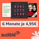 Die ersten 6 Monate Audible-Abo für nur 4,95 Euro monatlich