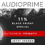Black Friday Weekend bei Audioprime: Spare volle 11% auf deine Bestellung!