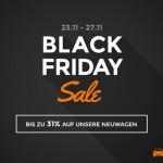 Nicht verpassen: Die Black Friday Woche bei autohaus24. Spare bis zu 31% auf Neuwagen!