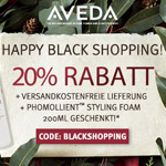 Happy Black Shopping bei Aveda – 20% Rabatt auf deine Bestellung