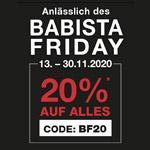Spare mit den Babista Friday Angeboten 20% auf auf deinen Einkauf