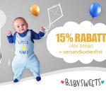 Black Friday bei Baby-Sweets.de – Sicher dir jetzt einen 15% Rabatt auf alles Gutschein