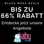 Entdecke jetzt die Black Week Deals bei Babybrands.de und spare bis zu 66% auf deinen Einkauf