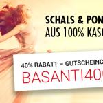 40% Rabatt auf BASANTI Schals und Ponschos aus 100% Kaschmir