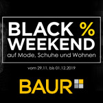 Black Weekend – 20% Rabatt auf Mode, Schuhe und Wohnen bei Baur