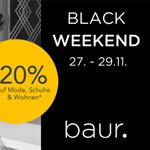 Black Weekend bei Baur mit 20% Rabatt auf Mode, Schuhe & Wohnen