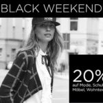 Black Weekend bei BAUR, 20% Rabatt auf Mode, Schuhe, Möbel & Wohntextilien!