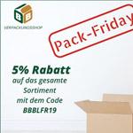 Pack Friday im BB-Verpackungsshop – 5% Rabatt auf das gesamte Sortiment