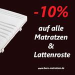 Nur heute: 10% Rabatt auf alle Produkte bei BeCo Matratzen