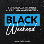 Black Week – Spare bis zu 60% auf Wasserbetten von Bellvita