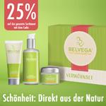 Sicher dir jetzt 25% Rabatt auf das gesamte Sortiment an veganer Naturkosmetik von Belvega