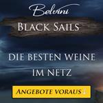 Belvini Black Sails Woche mit starken Rabatten von bis zu 74% auf Wein und Spirituosen