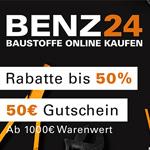 Black Weekdays bei Benz24 – Spare jetzt 50 EURO auf Baustoffe für dein neues Projekt