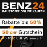 Black Weekdays bei Benz24 – Spare jetzt 50 CHF auf Baustoffe für dein neues Projekt