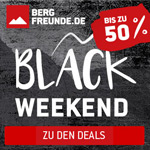 3 Tage lang bis zu 50% Rabatt beim großen Bergfreunde.de Black Weekend!