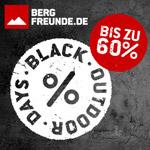 Spare bis zu 60% bei den Black Outdoor Days im Store von bergfreunde.de
