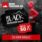 Black Outdoor Days bei Bergfreunde.de – Sicher dir jetzt bis zu 50% Rabatt!