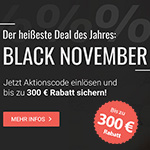 Black November bei BETTEN.de – Sicher dir jetzt bis zu 300 Euro Rabatt!