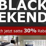 Black Weekend Premiere bei BETTEN.de: 30% Rabatt auf Massivholz- und Polsterbetten