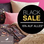 Spare jetzt 15% auf alles im BLACK SALE bei BETTENRID