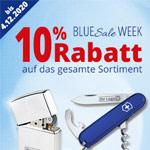 Sicher dir jetzt 10% Blue Week Sale Rabatt auf alle Werbemittel im Onlinestore von Bettmer