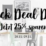 BLACK DEAL DAYS -25% Rabatt bei Bilderwelten.de