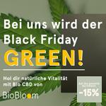 Green Friday bei BioBloom! -15% auf das gesamte Bio CBD, Hanf- und Naturproduktesortiment
