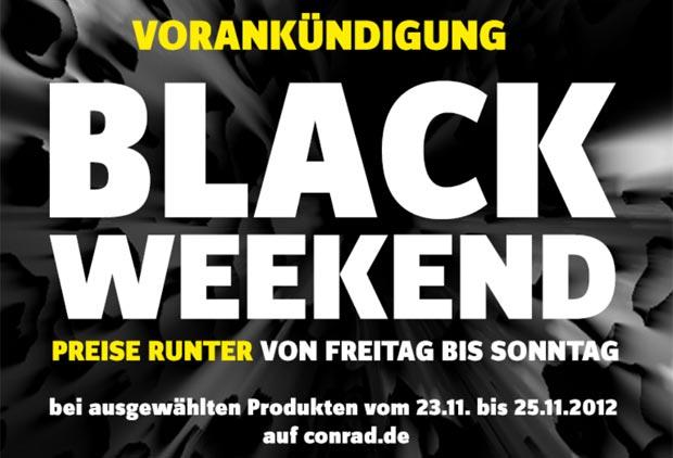 black friday weekend bei conrad preise runter von freitag bis sonntag black. Black Bedroom Furniture Sets. Home Design Ideas