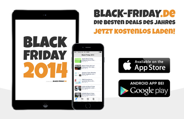 die black friday 2014 app jetzt kostenlos im app store und bei google play black. Black Bedroom Furniture Sets. Home Design Ideas
