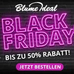 Großer Black Friday Sale bei Blume Ideal – Bis zu 50% Rabatt auf deine Bestellung
