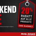 Großer Black Weekend Sale bei Body Attack – Sicher dir 20% Rabatt auf Sportnahrung!