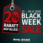 Hole dir jetzt 20% Rabatt auf Sportnahrung beim Black Week Sale von Body Attack