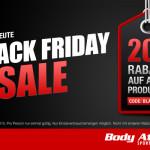 Nur heute: Body Attack gewährt 20% Rabatt auf alle Produkte!