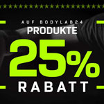 Black Week: 25% Rabatt auf Bodylab24-Produkte