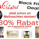 Kräftig Sparen und 30% Rabatt mit den Black Friday Deals von Bohemia Cristal einstreichen!