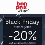 bonprix feiert den Black Friday 2018 mit 20% Rabatt auf ausgewählte Artikel