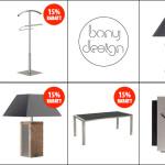 15% Rabatt auf das gesamte Sortiment von Bony Design – Möbel Made in Holland!