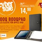 Booqpad iPad Tasche schwarz/grau für 14,90 EUR statt 59,90 EUR