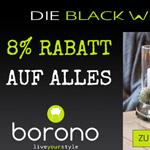 Black Week bei Borono – 8% Rabatt auf alles!