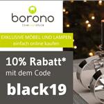 Exklusive Möbel und Lampen mit 10% Rabatt während der Black Week bei Borono