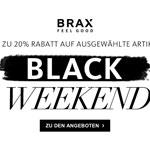 Sicher dir jetzt bis zu 20% Rabatt auf ausgewählte Artikel von Brax!