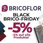 Black Brico Friday – 5% Rabatt auf alle Wand- und Bodenbeläge bei Bricoflor