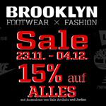 Nur für kurze Zeit – 15% Rabatt auf Streetwear und Sneaker im Onlineshop von Brooklyn