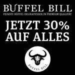 30% Rabatt auf feinste Büffel-Delikatessen in Premium-Qualität bei Büffel Bill