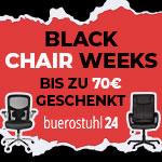 20% Rabatt auf alle Stühle in den Black Chair Weeks von buerostuhl24