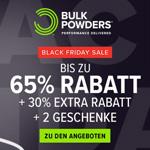 Black Friday Sale bei Bulk Powders – Bis zu 65% Rabatt + 30% Extrarabatt + 2 Geschenke