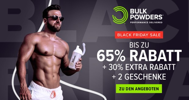 Bulk Powders Black Friday 2018
