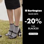 Sicher dir jetzt 20% Rabatt mit den Burlington Black Days